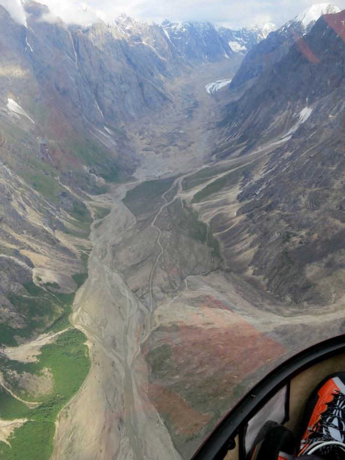 up glacier flyin in