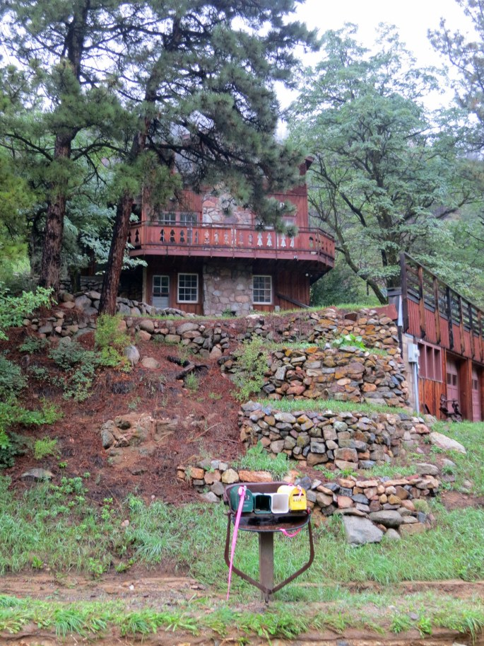 The second damaged spot is just below 4451 Fourmile Canyon Dr. and this house, 4472 I think.