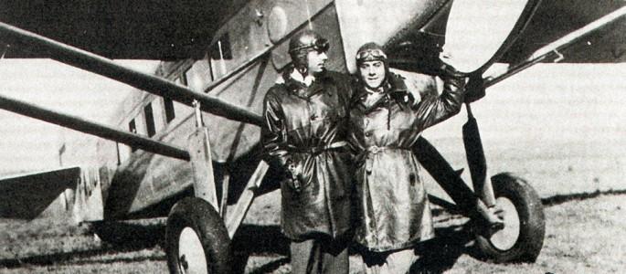 Exupery and Guillamet in Argentina, 1930.