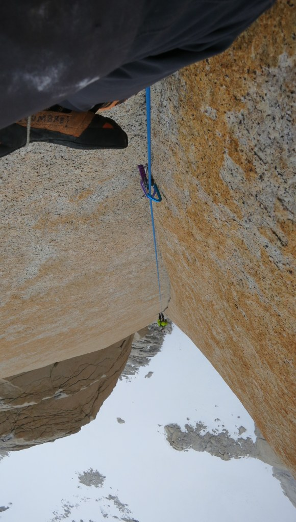 Graham Zimmerman follows final 20m of perfect handcrack.