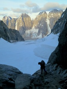 Graham Zimmerman begins a long and harrowing descent of Alaska's Angel Peak.